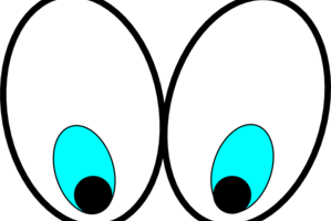 eyes looking clipart 6