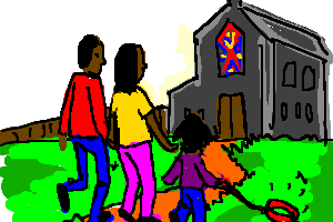 Family Going To Church Clipart 2 Clipart Station