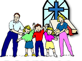 Family Going To Church Together Clipart Clipart Station