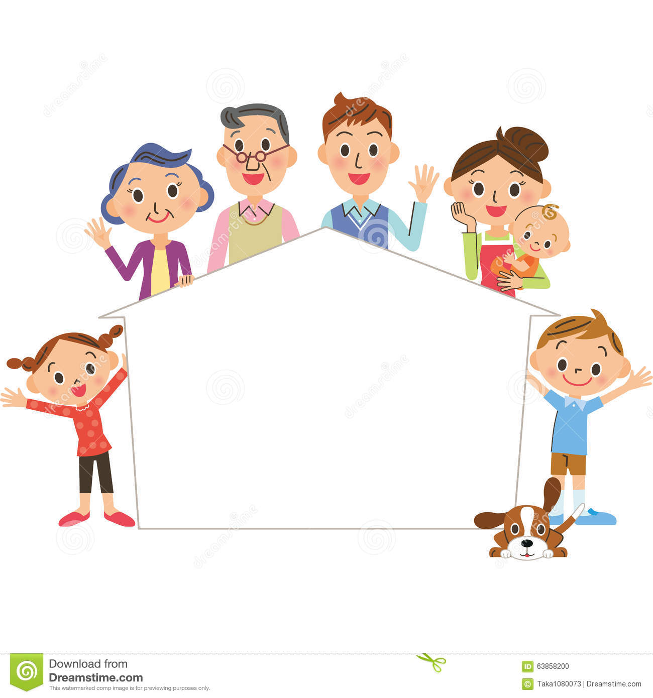 Family Picture Frame Clipart 11
