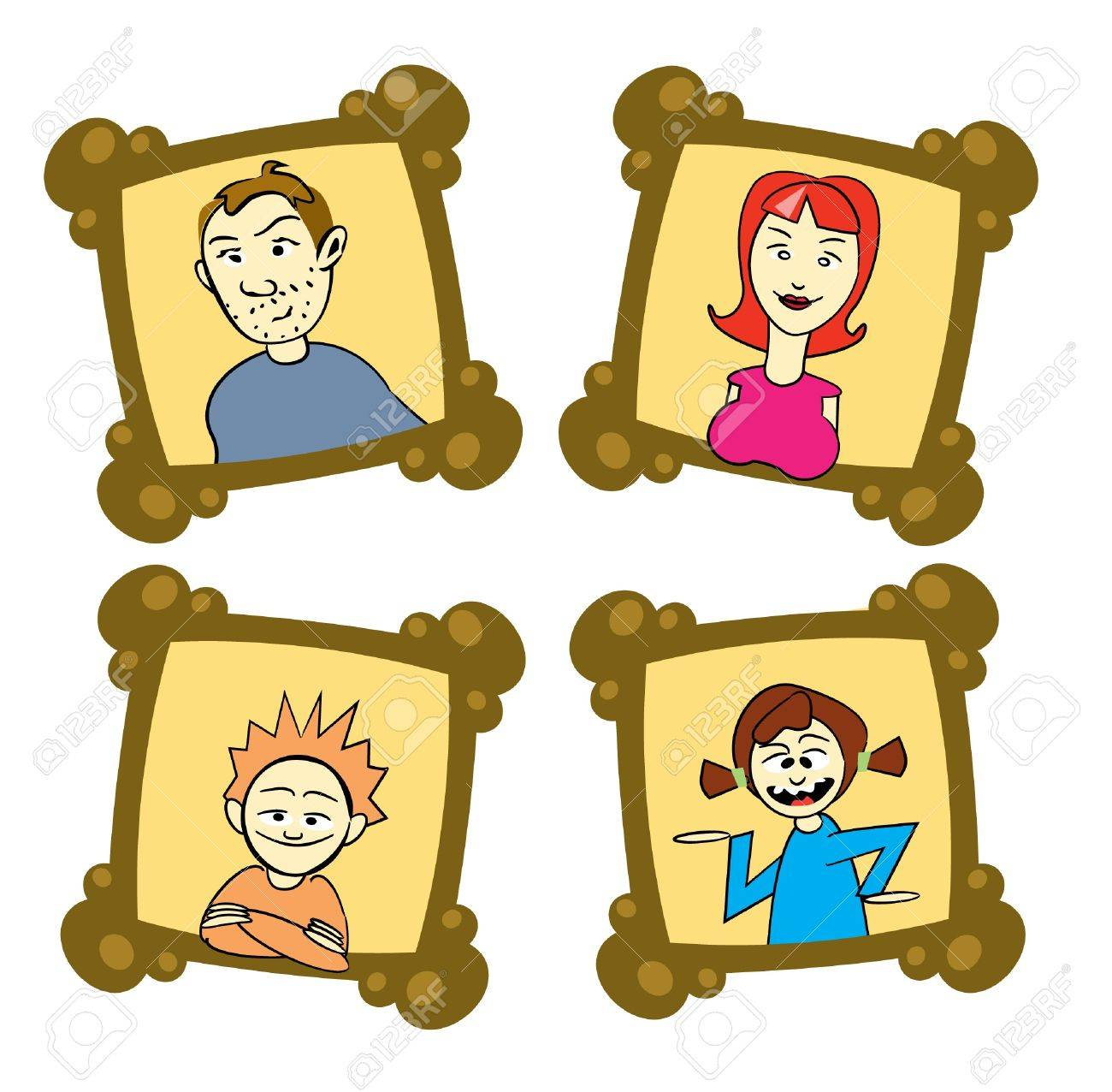 Family Picture Frame Clipart 13