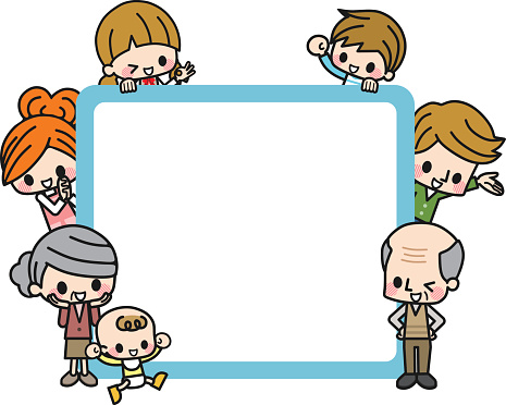 Family Picture Frame Clipart 3