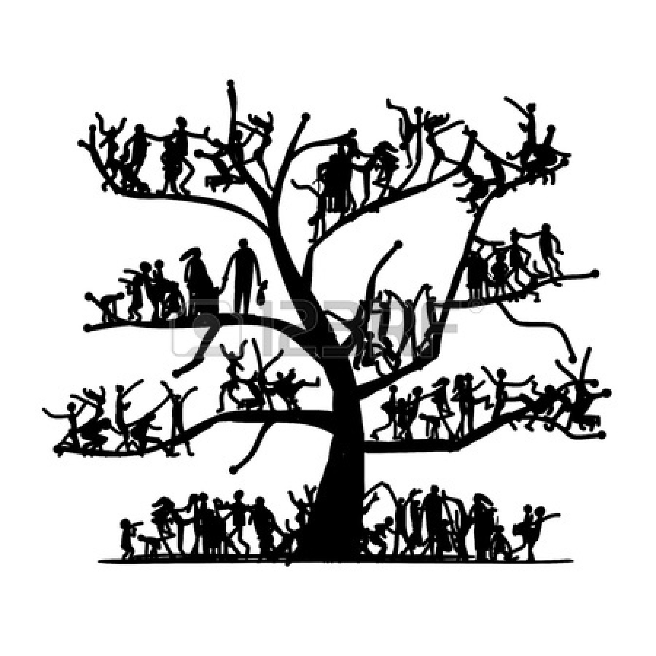 Family Tree Clipart Black And White 4