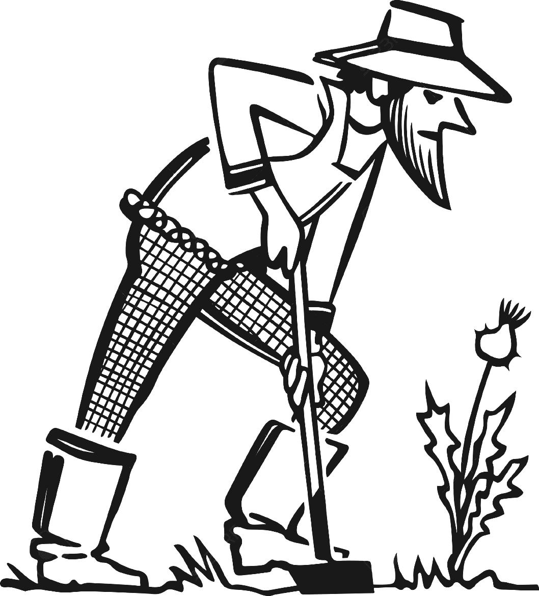 Farmer Clipart Black And White 3 187 Clipart Station