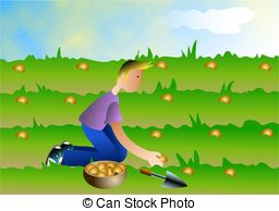 farmer sowing seeds clipart 3