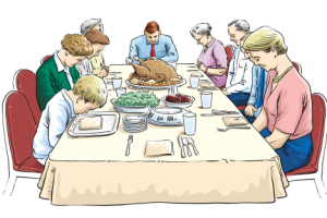 Family Eating Together Clipart 4