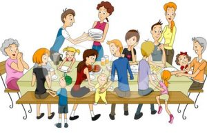 filipino family eating together clipart 5