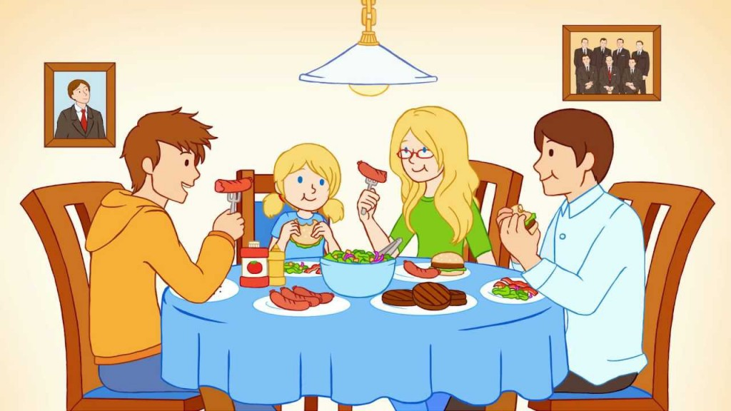 Filipino family eating together clipart 9 » Clipart Station