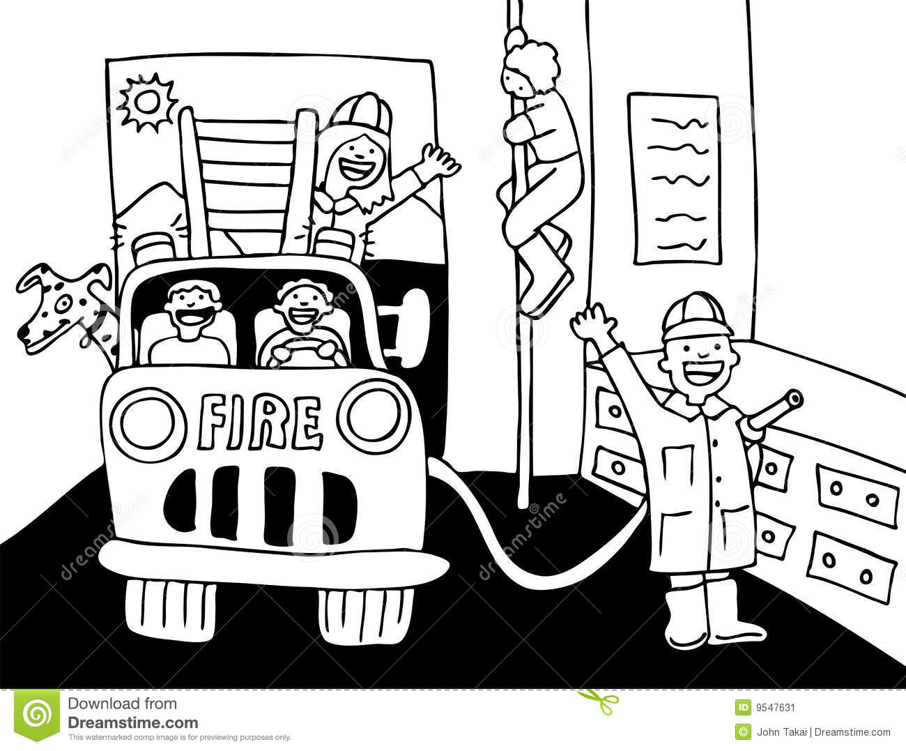 Fire station clipart black and white 1 » Clipart Station