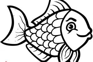 fish clipart black and white 1
