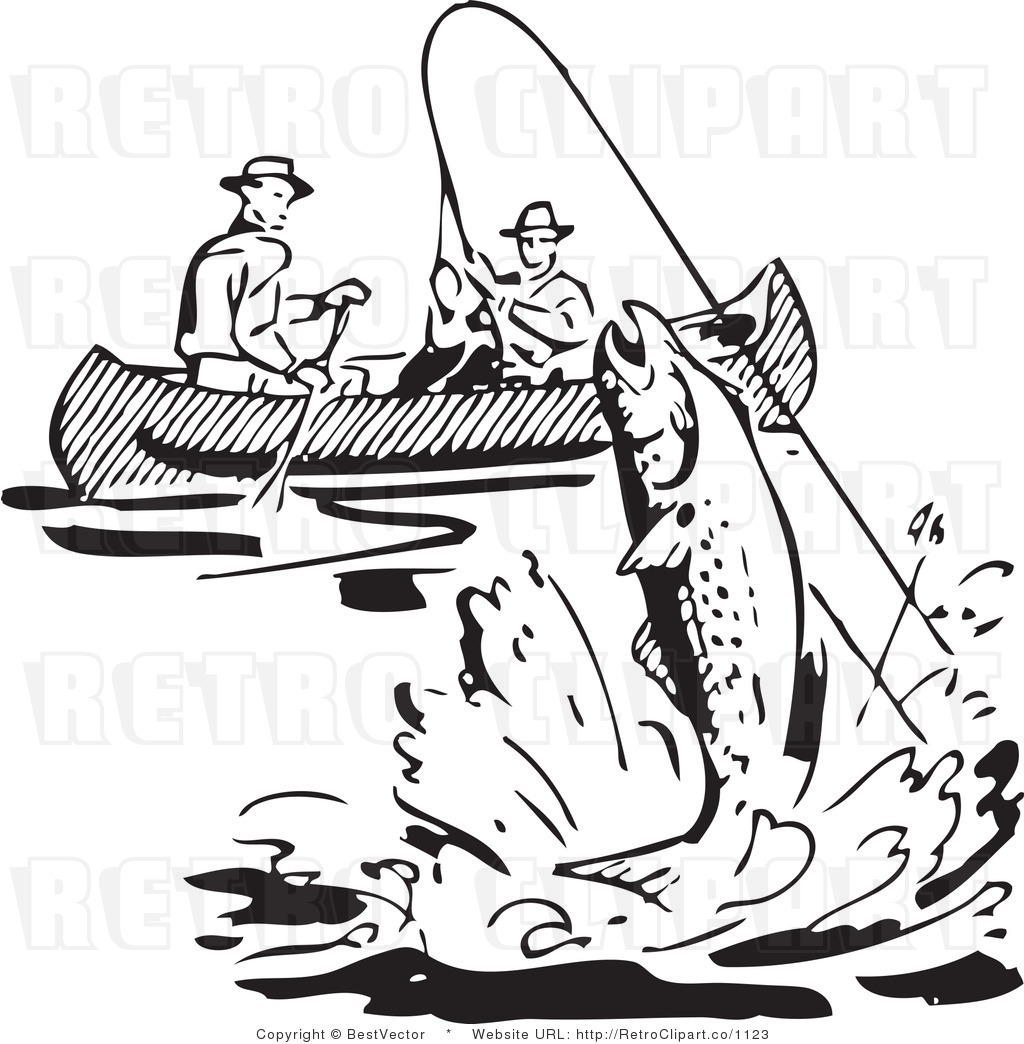 Fisherman clipart black and white how to format cover letter for Free fishing samples 2017