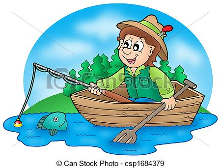 Fisherman In Boat Clipart 9 Clipart Station