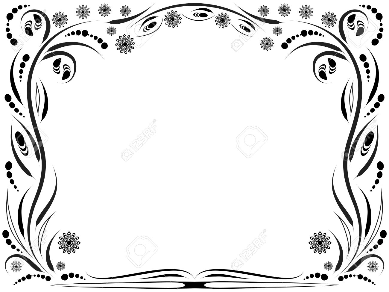 fleur noir et blanc clipart 8 clipart station. Black Bedroom Furniture Sets. Home Design Ideas