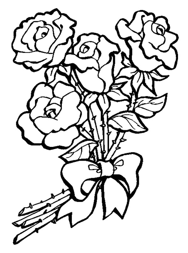 flower bouquet clipart black and white 1 | Clipart Station