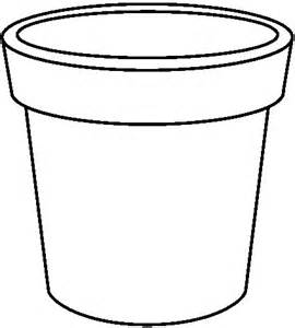 Empty flower vase coloring pages