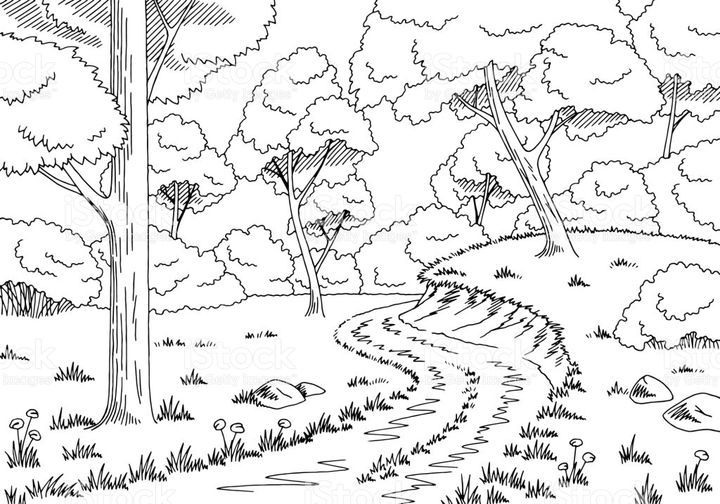 forest clipart black and white 6 187 clipart station