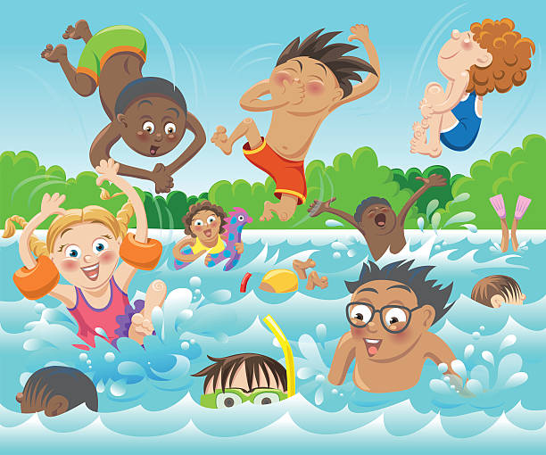 Kind Schwimmbad Sonne Clipart - Wohndesign