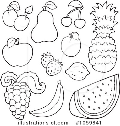 Fruit clipart black and white 2 » Clipart Station