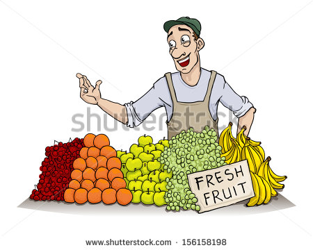 Fruit seller clipart 6 » Clipart Station