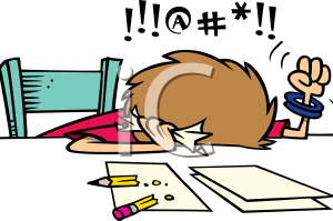 frustrated clipart