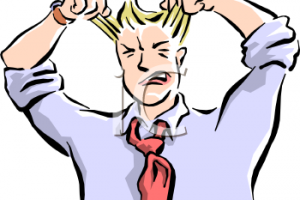 frustrated clipart 7