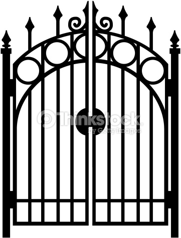 Gate clipart black and white 3 » Clipart Station