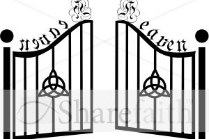 gate clipart black and white 8