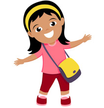 smiling cute girl with her bag pack back to school clipart clipart rh clipartstation com clip art girl in car clip art girl scout