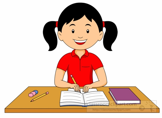 girl studying clipart 6 clipart station rh clipartstation com College Student Studying Clip Art girl studying clipart black and white