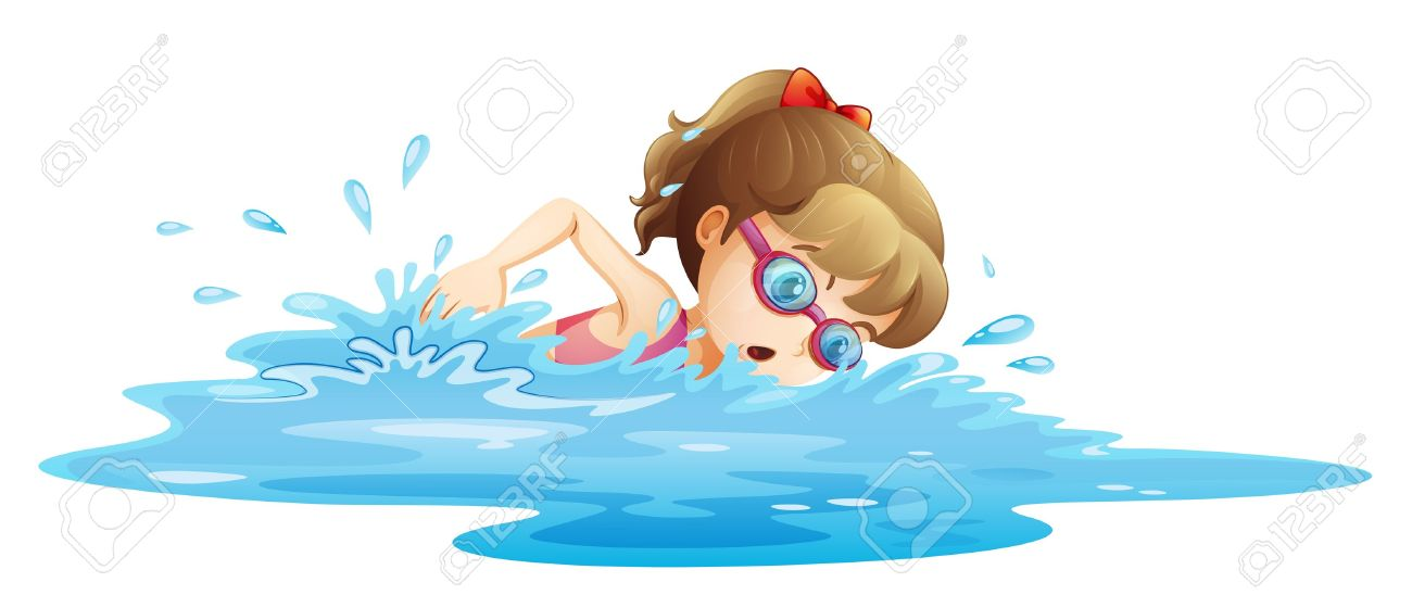 Girl Swimming Clipart 2 » Clipart Station