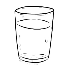 Glass of water clipart black and white 7 » Clipart Station