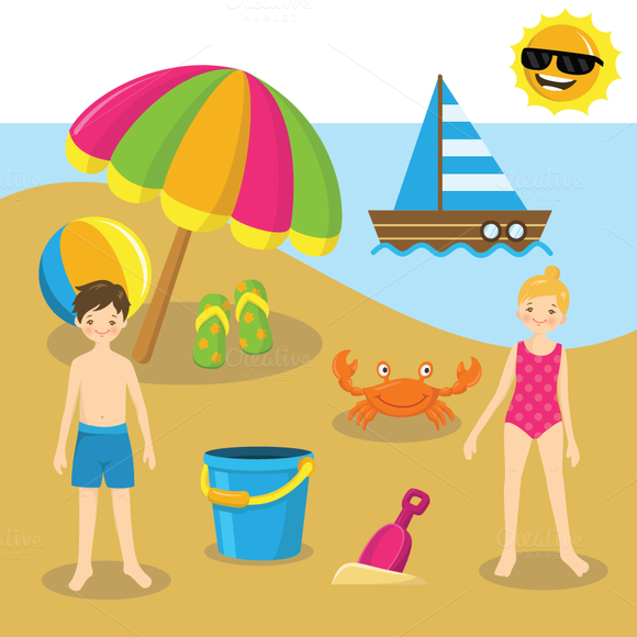 Go To The Beach Clipart