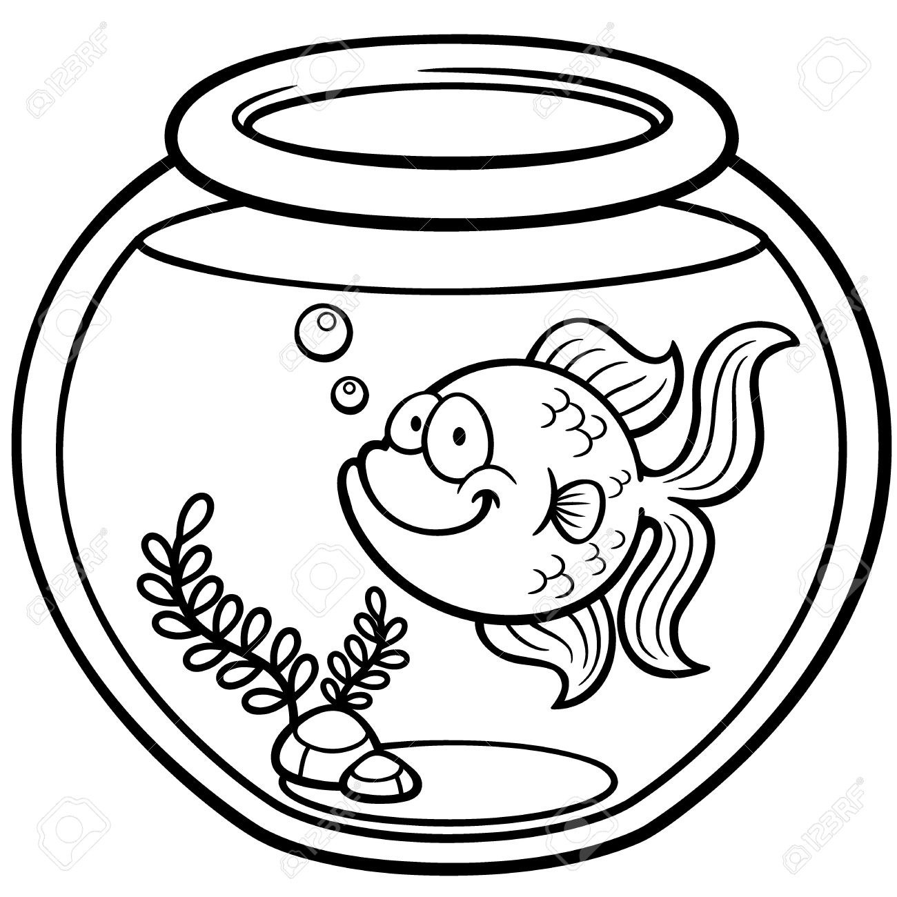 goldfish clipart black and white 6 | Clipart Station for Goldfish Clipart Black And White  197uhy