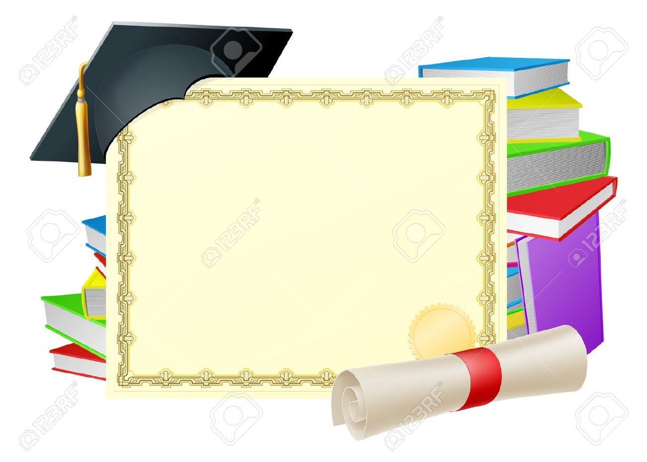 Graduation background. Clipart station