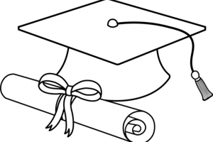 graduation clipart black and white
