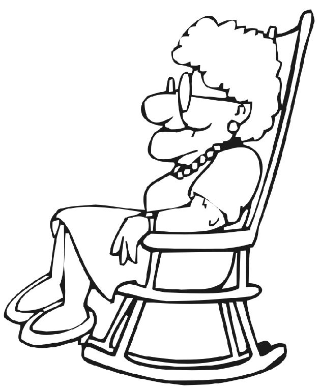 grandmother clipart black and white coloring pages and