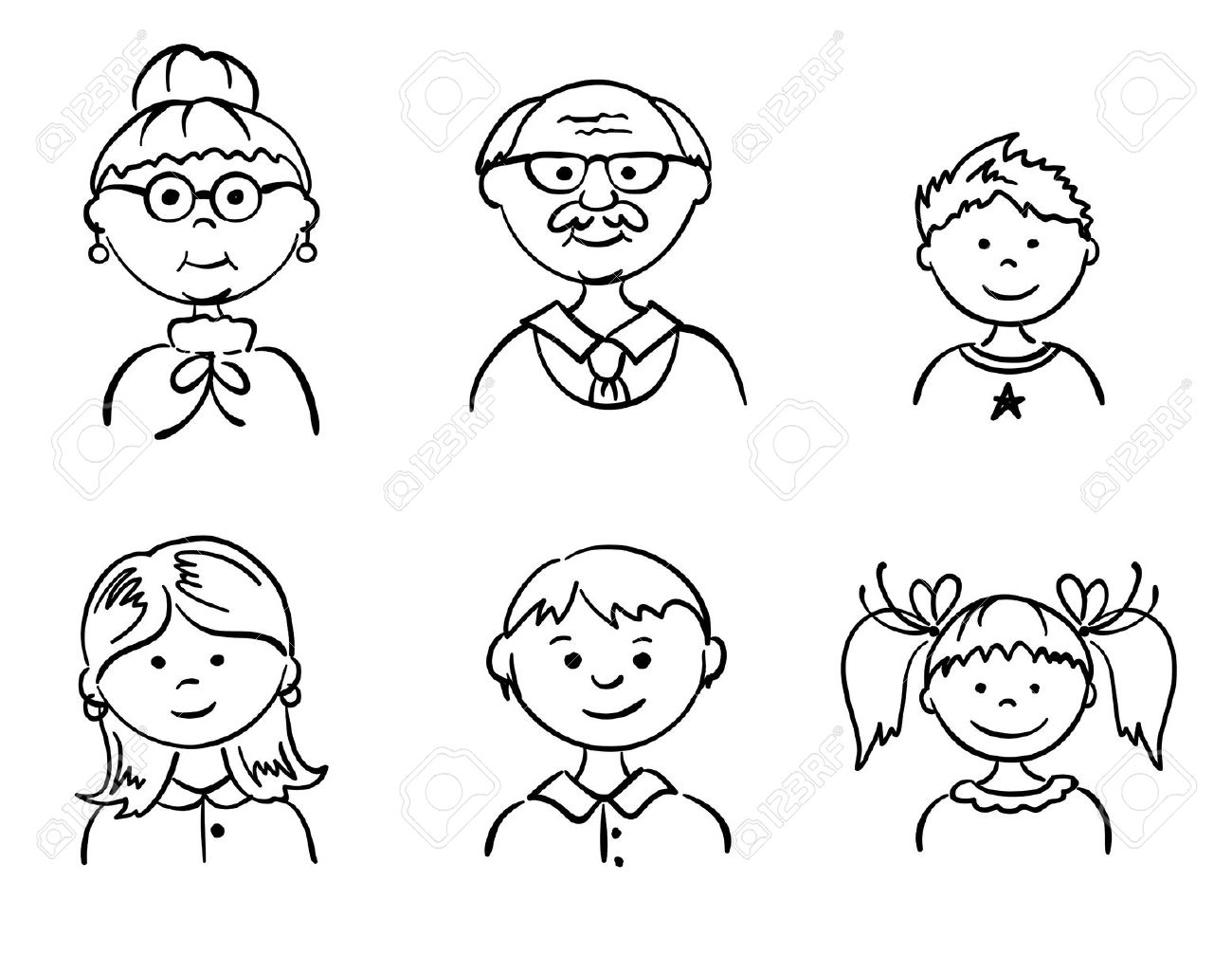 grandparents clipart black and white 2 | Clipart Station