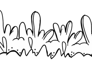 grass clipart black and white 2
