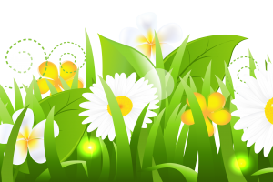 grass with flower clipart 4
