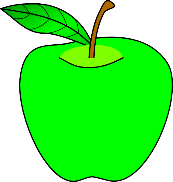 Green apple clipart 7 » Clipart Station