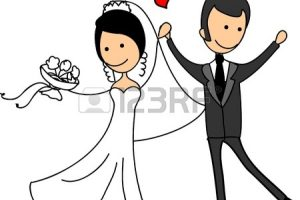 groom and bride clipart 1