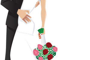 groom and bride clipart 2