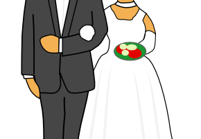 groom and bride clipart 3