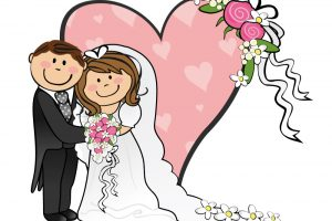 groom and bride clipart 7