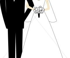 groom and bride clipart 8