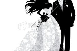 groom and bride clipart 9