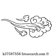 gust of wind clipart 1