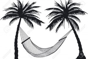 hammock clipart black and white 10