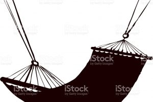 hammock clipart black and white 4