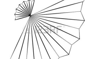 hand fan clipart black and white 6
